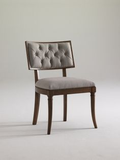 Pretty and comfortable tufted back chair by Moore Councill Home Furnishings