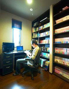 読書やスポーツ観戦の趣味を生かす書斎