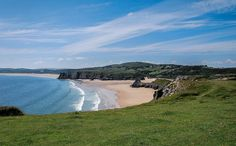View of the Day! Three Cliffs Bay #Gower # #Swansea http://luxurylet.com/shepherds-hut-supergrand-3cb #LuxuryTravel #Wales