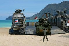 LCAC and Strykers