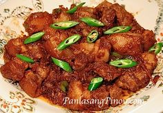 Pork Binagoongan is translated as pork cooked in shrimp paste. This pork binagoongan recipe produces one of the authentic Filipino Recipes that I enjoy eating.