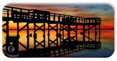 Crystal Beach Pier at Sunset V iPhone 5 Case / iPhone 5 Cover for Sale by Daniel Woodrum
