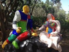 Niky de Saint Phalle - Adam et Eve - Le Jardin des Tarots