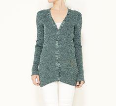 Prada Green Cardigan Sweater