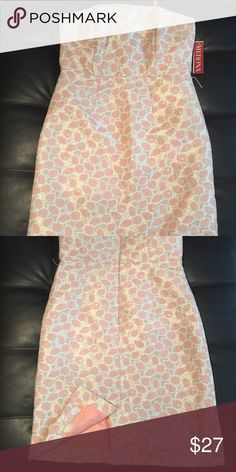 Strapless Floral Print Dress Knee length strapless floral print dress. Brand New Never Worn. Can be worn for special event/occasions. Merona Dresses Strapless
