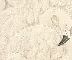 grijs wit  flamingo kraanvogel vogel behang 823806