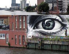 """""""Unknown artist in Berlin. Street Art Utopia, Street Art Graffiti, Outside Wall Art, Street Photography, Art Photography, Banksy Graffiti, Street Gallery, Social Art, Outdoor Art"""