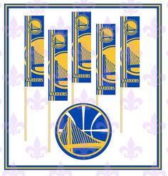 GOLDEN STATE WARRIORS  Basketballl  Cupcake by MardiGrasToppers