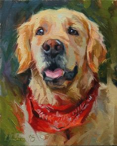 "Daily Paintworks – ""Lucky"" – Original Art For Sale – Oleksii Movchun - Art Painting Golden Retriever Kunst, Animal Paintings, Animal Drawings, Matisse Paintings, Indian Paintings, Portraits Pop Art, Dog Artwork, Fine Art, Original Art"