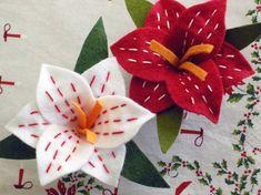 Christmas Amaryllis Ornament PDF PATTERN por betzwhite en Etsy