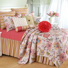 The Country Porch features the luxury oversized Celine quilt, pillow sham and bedding accessories from C&F Enterprises. Duvet, Quilt Bedding, Comforter Sets, Quilt Pillow, Home Decor Shops, Home Decor Items, Celine, Urban Outfitters, Shabby