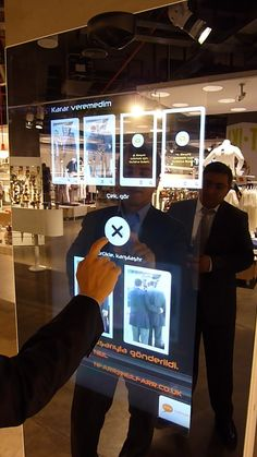 Touch-screen mirrors installed into retail outlets heighten the customer experience!