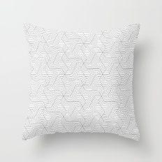 Geometric mind twisting pattern Throw Pillow