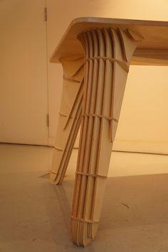 'MAK' Table leg detail