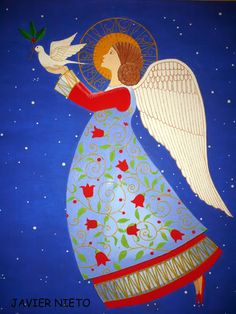 Christmas Scenes, Christmas Angels, Christmas Art, Christmas Projects, Xmas, Frida Art, Angel Drawing, Angel Pictures, Guardian Angels