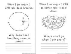 Stress management : Anger Management Elementary School Don't Be An Angry Bird: FREE Printabl Elementary School Counseling, School Social Work, School Counselor, Elementary Schools, Anger Management Worksheets, Math Worksheets, Printable Worksheets, Free Printables, How To Control Anger