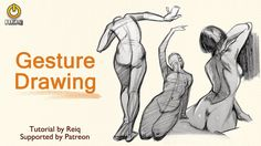 Gesture Drawing Tutorial By REIQ - YouTube Figure Drawing Tutorial, Gesture Drawing Poses, Drawing Tips, Life Drawing, Human Figure Sketches, Figure Sketching, Art Tips, Art Tutorials, Drawing Tutorials