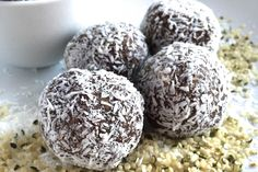 <p>These bites are a great energy burst for your midday slump and contain the PERFECT amount of cocoa, making them just the right amount of sweet and savory.</p>