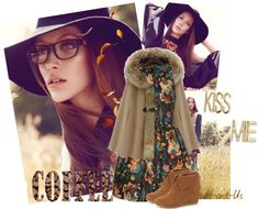 """""""Kiss me when the leaves fall..."""" by h-and-us ❤ liked on Polyvore"""