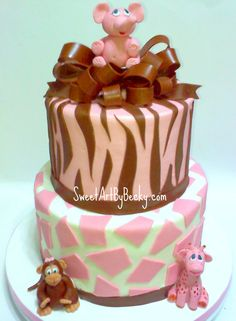 would make safari baby shower cake in blue