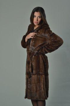 Luxury gift/ Brown Mink fur coat/Fur jacket/ Full Skin by skffurs