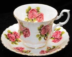 Royal Albert Whimsical-ROSE Roses Tea cup and saucer Teacup