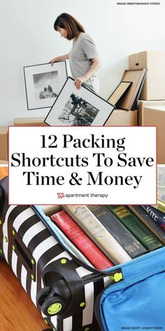 These 12 packing tips for movers will save time unloading boxes and money. #movingtips #moving #packing #packingtips #movers #packingforamove