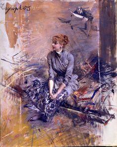 """pearlsandcurlsandgin: """" Madame Gabrielle Rejane by Giovanni Boldini """""""