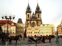 This is the Church of Our Lady Before Tyn in Prague which I visited.Each tower is a representation of the female and males sides of the world.