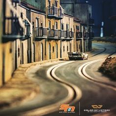 A Slot Mods' creation. Ho Slot Cars, Slot Car Racing, Slot Car Tracks, Corvette Cabrio, Chevrolet Corvette, Porsche 356, Bike Shed, Model Hobbies, Model Train Layouts