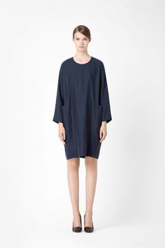 COS image 4 of Dress with pockets in Navy