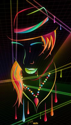 Bright and colorful digital art by Jeremy Young - Art Attack Art And Illustration, Art Illustrations, Abstract Face Art, Young Art, Young Young, African Art, Amazing Art, Vector Art, Pop Art