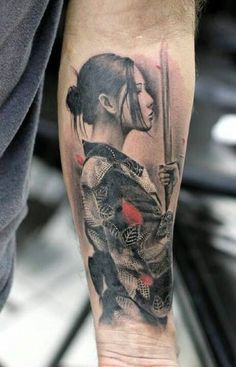 52 Best Tattoos Inspired by Classical Art and More for Handsome Mens tattoos inspired by art; tattoos inspired by books; tattoos inspired by movies; tattoos inspired by depression; tattoos inspired by history; tattoos inspired by nature Irezumi Tattoos, Forearm Tattoos, Body Art Tattoos, Tatoos, Japan Tattoo, Japanese Tattoo Art, Japanese Sleeve Tattoos, Geisha Tattoos Sleeve, Female Samurai Tattoo