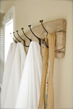 barnwood and hooks for bathrooms
