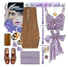 """Lavender & Spice"" by petalp ❤ liked on Polyvore featuring Johanna Ortiz, Pineider, Anja, Coliàc Martina Grasselli, Balmain, Fendi, Casetify, Cartier, Wembley and skirt"
