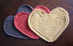 Heart-shaped dishcloths pattern