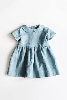 Handmade Vintage Style Linen Baby Dress | TsiomikKids on Etsy