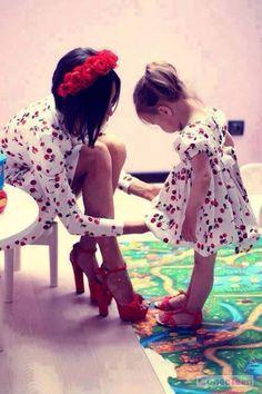 mama and daughter matching