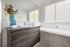 #bathroom #bathroomstorage #bath #darkwoodvanity