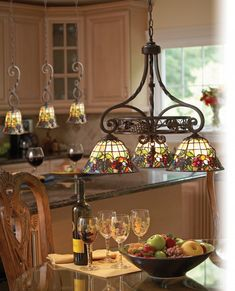 decoration-splendid-island-kitchen-lighting-fixtures-from-wrought-iron-material-with-vintage-stained-glass-hanging-lamp-shade-also-ceramic-fruit-bowl-ideas-945x1169.jpg (945×1169)