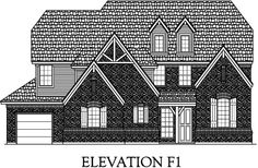 Galloway elevation F1 - I would center the front porch and door.