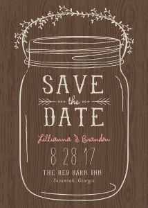 DIY Printable Mason Jar Save The Date | Meghan Henry Designs ...
