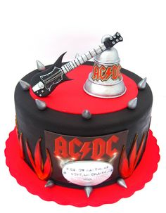 The 74 Best AC DC Birthday Cakes Images On Pinterest In 2018