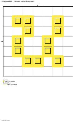 alfabeto minuscolo stilizzato: U