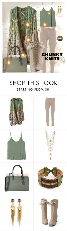 """chunky knits"" by traceyenorton ❤ liked on Polyvore featuring Missoni, Mint Velvet, MANGO, Kate Spade and Alexis Bittar"