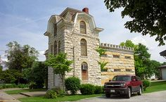 "Route 66 - Macoupin County Jail. On old Rt. 66 in Carlinville, Illinois. ""The Fine Art Photography of Frank Romeo."""