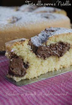 cream cake, chocolate cream soft and delicious recipe with cream Italian Cake, Italian Desserts, Sweet Recipes, Cake Recipes, Plum Cake, Nutella Recipes, Almond Cakes, Sweet Bread, Ricotta