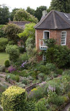 Cottage garden in Stone, Staffordshire.