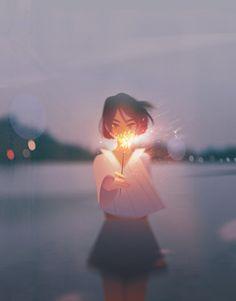 Illustrations Capture Under-Appreciated Moments of Solitude Digital Art by Jenny Yu.Digital Art by Jenny Yu. Art Anime Fille, Anime Art Girl, Manga Art, Anime Girls, Aesthetic Anime, Aesthetic Art, Pretty Art, Cute Art, Meer Illustration