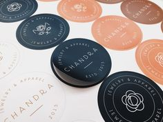 Chandra is a fashion and accessories brand established in Switzerland by founders Trang & Aurélien Spiegelberg. Launched in Oddds created and developed the brand identity, brand palette and visual language of Chandra romanticizing on women's sensibi… Identity Design, Brand Identity, Corporate Identity, Corporate Design, Brochure Design, Visual Identity, Packaging Stickers, Label Stickers, Brand Stickers